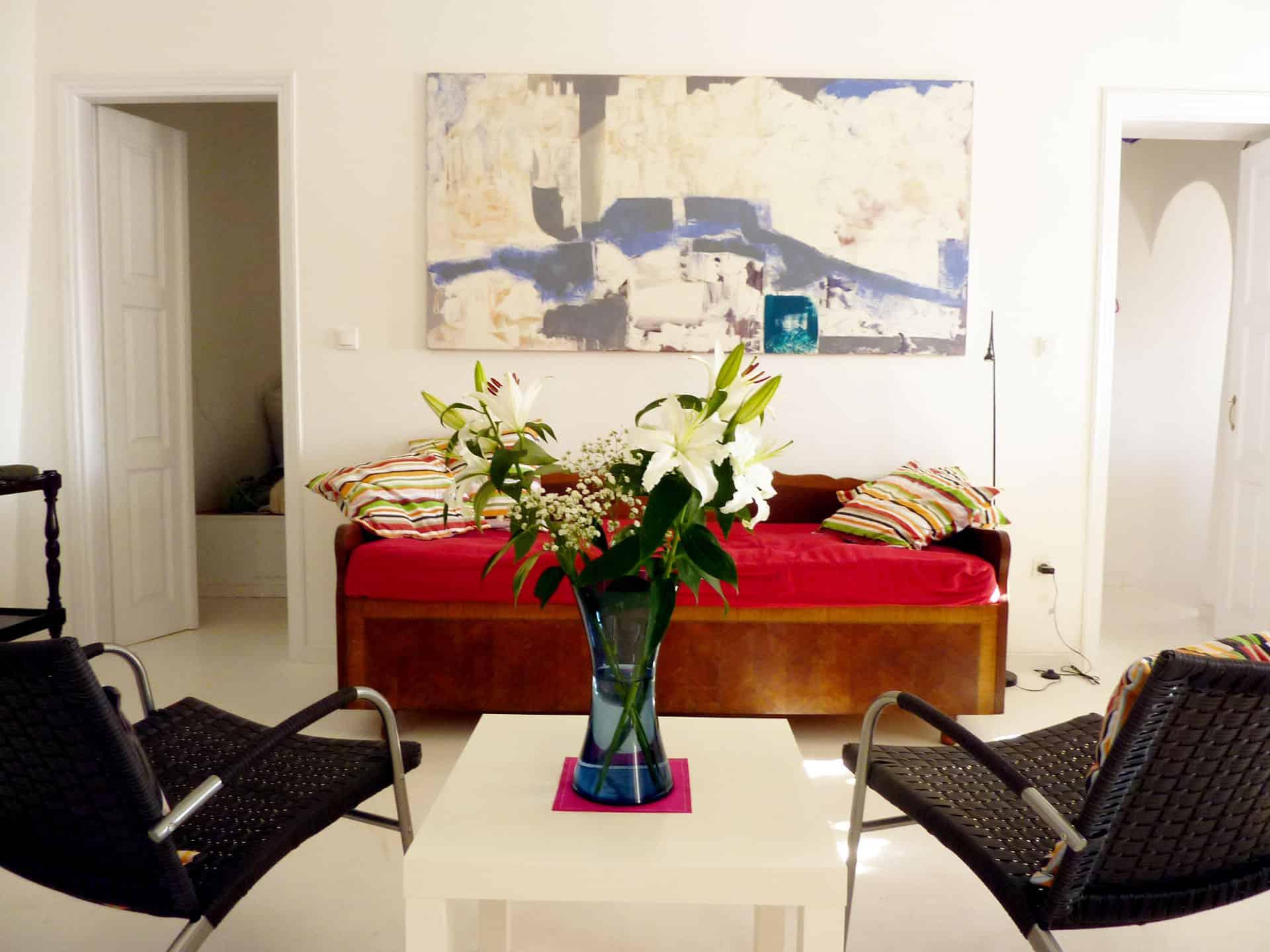 azur house arnados tinos greece living room