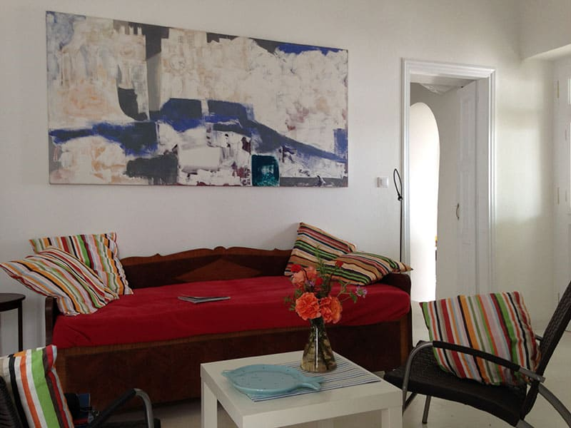 azur house Greece living